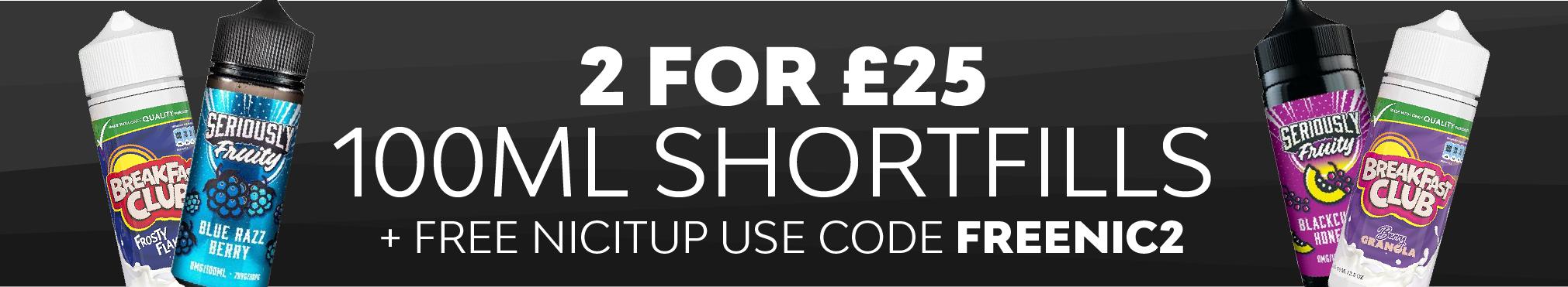 Shortfills 2 for £25